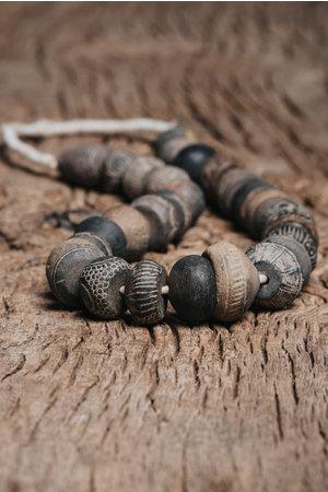 Antieke Djenne terracotta kralen - Mali