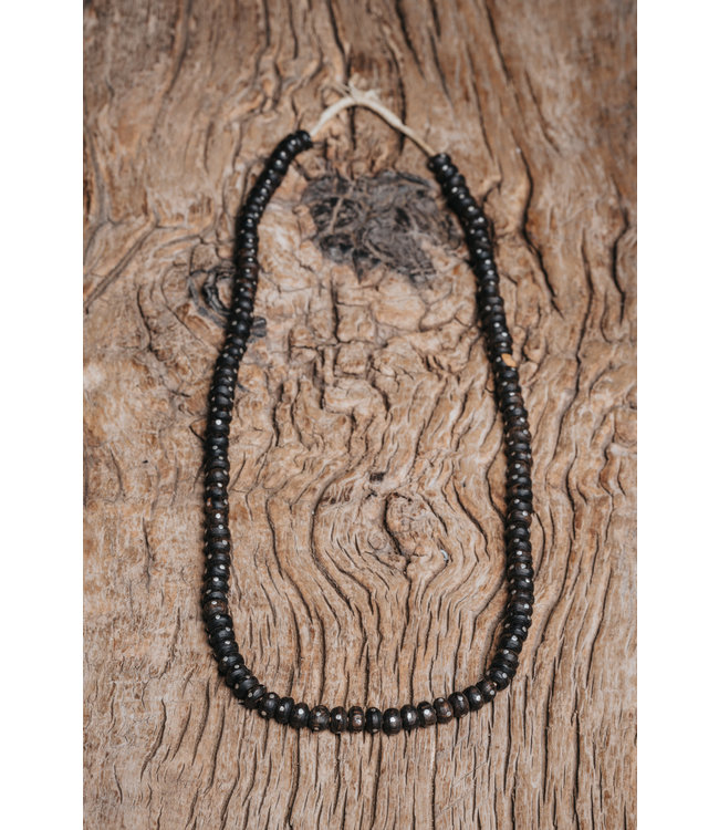 Old necklace wooden beads