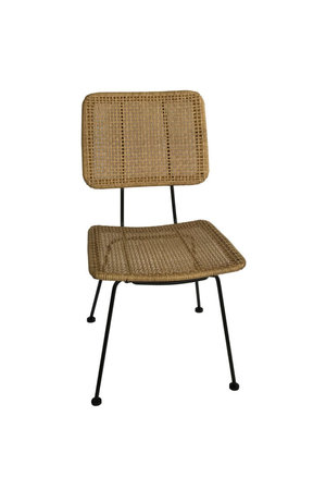 Naturel polyrotan stoel 2-delig