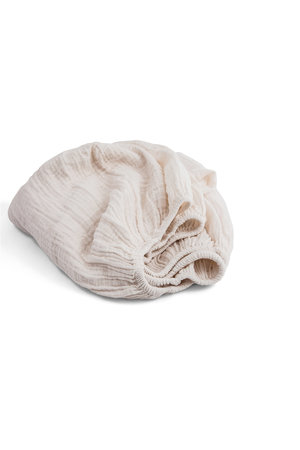 Moumout Papuche fitted sheet - milk