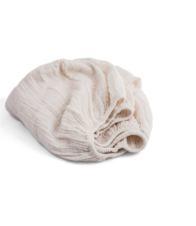 Papuche fitted sheet - milk