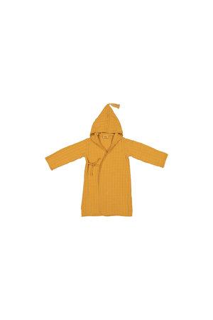 Pepin children bathrobe in muslin - mustard