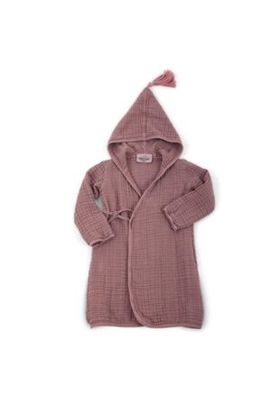 Pepin children bathrobe in muslin - taupe