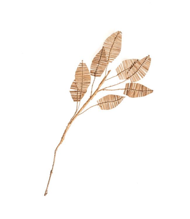 Decoratieve tak bananenblad 8 blad