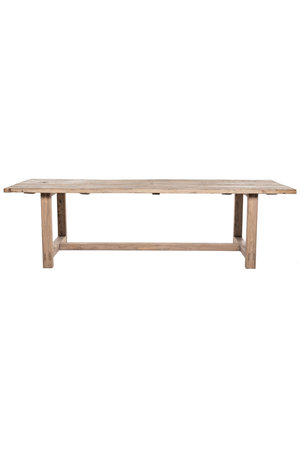 Table in elm wood with wooden legs