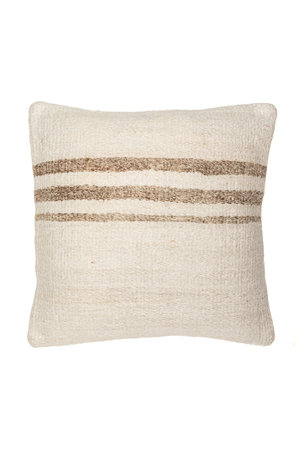 Kilim cushion - ecru with beige stripes - Turkey