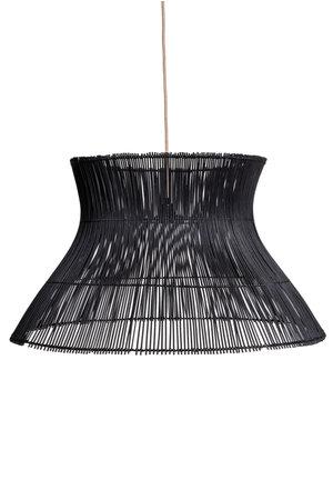 Caravane Rattan hanging lamp 'Halo' - black