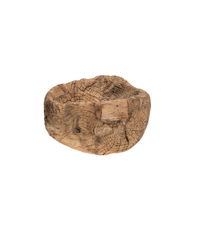 Oude vijzel bruut hout - Indië