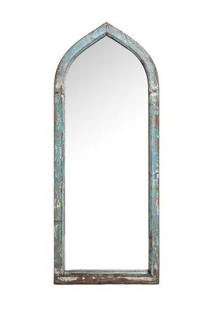 Oude spiegel blauw #1  - Indië