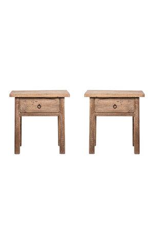 Set bedside tables with drawer #1