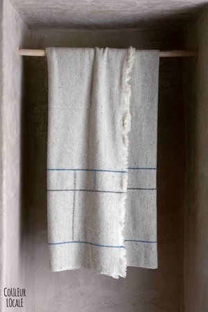 Teixidors Throw Apt - light grey / blue