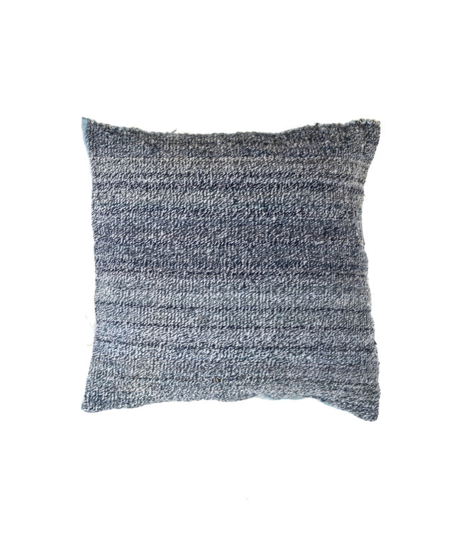 Cushion alpaca - chine bleu - square