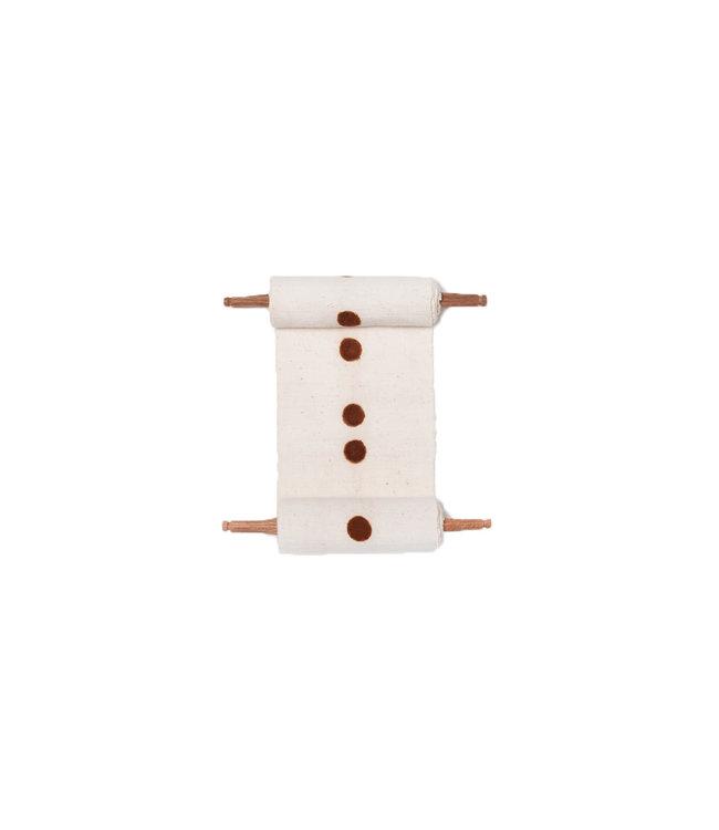 Bogolan totem - birth - white/brown