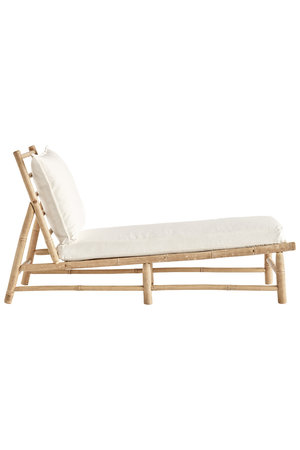 Tine K Home Bamboo lounger - white