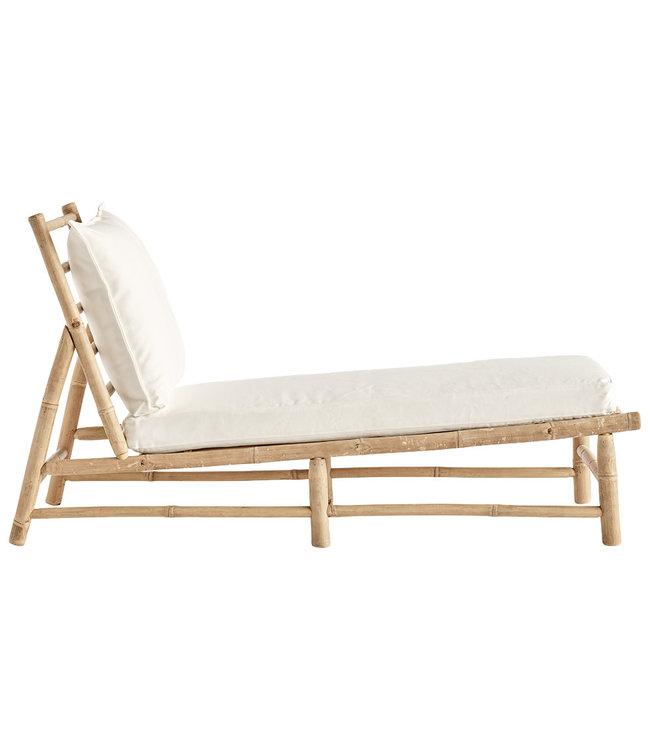 Bamboo lounger - white
