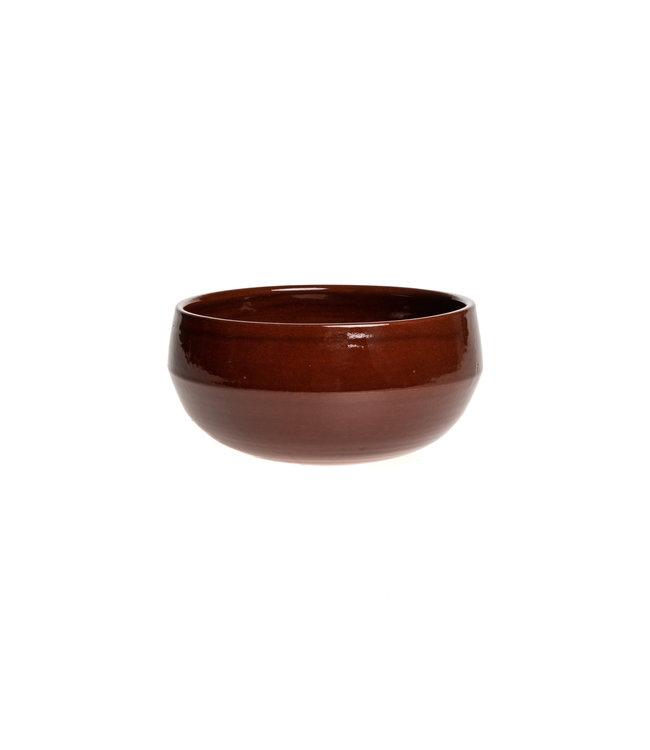 Salad bowl ceramics - caramel