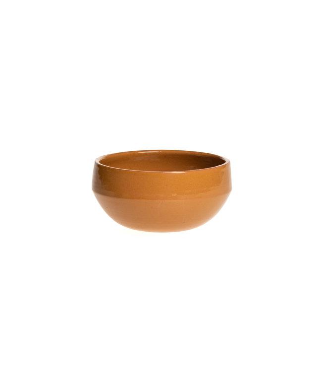 Salad bowl ceramics - ochre