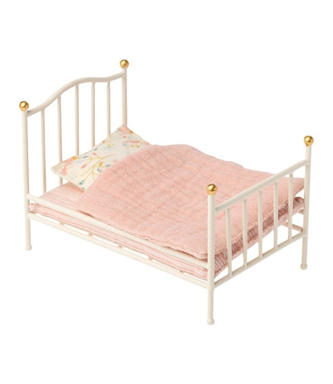 Maileg Vintage bed, mouse - off white