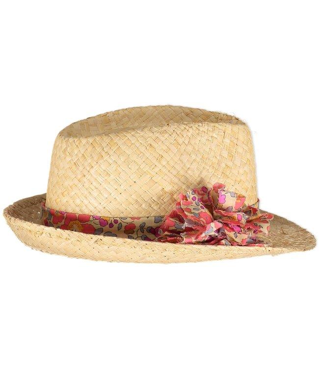 Obi Obi Pompom straw hat - fluo the liberty