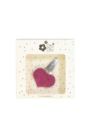 Obi Obi Haarclip hart roze
