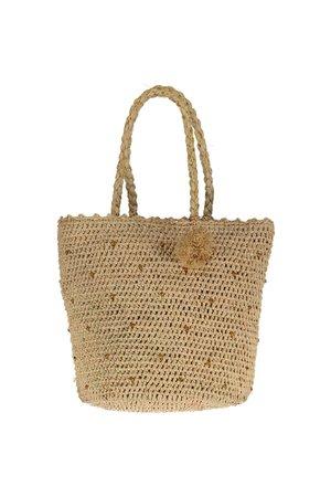 Obi Obi Raffia crochet basket bag L
