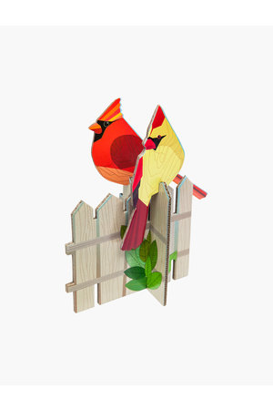 Studio Roof Pop out card - cardinals