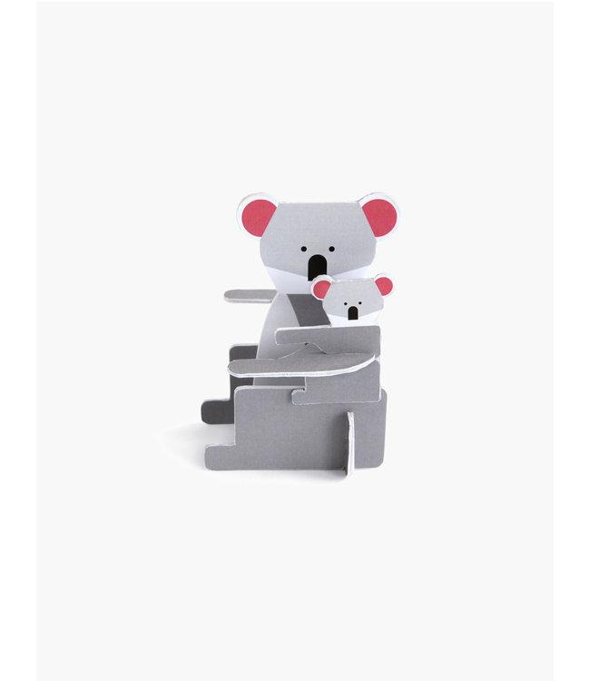 Pop out card - koala