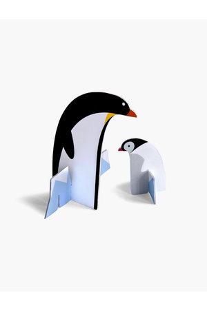 Studio Roof Pop out card - penguins