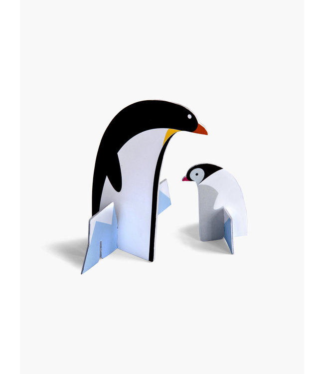 Pop out card - pinguins