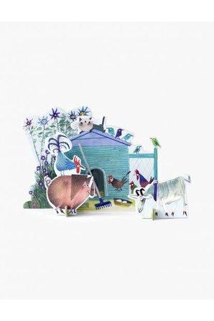 Studio Roof Pop out card - little farm