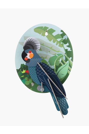 Studio Roof Wall decoration  grey parrot