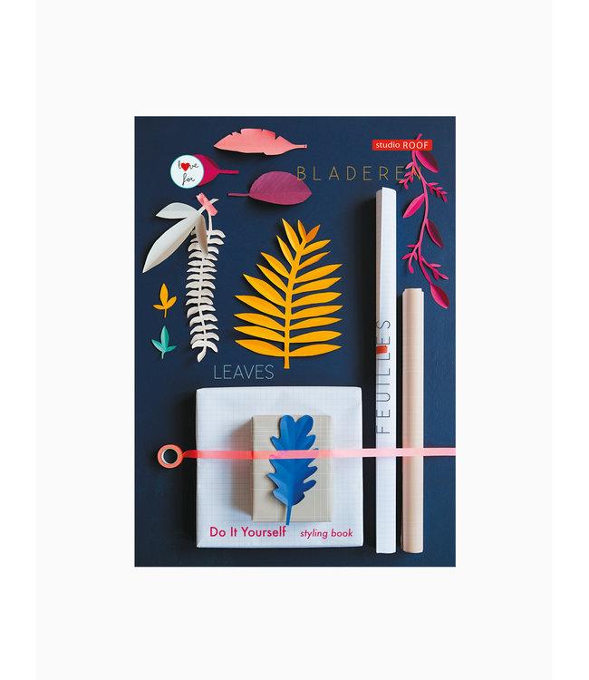 DIY styling boek - gekleurde bladeren