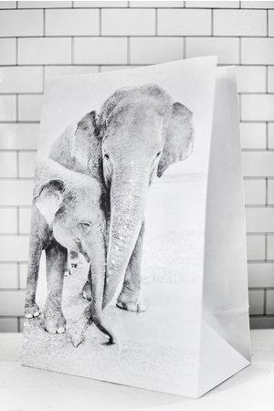 Love Warriors Craft paper photo bag  - elephant #3