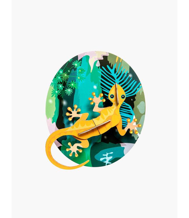 Jungle gecko wall decor