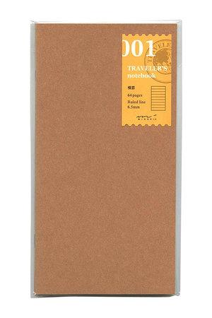 Midori Traveler's notebook - 001. gelijnde navulling 64 blz