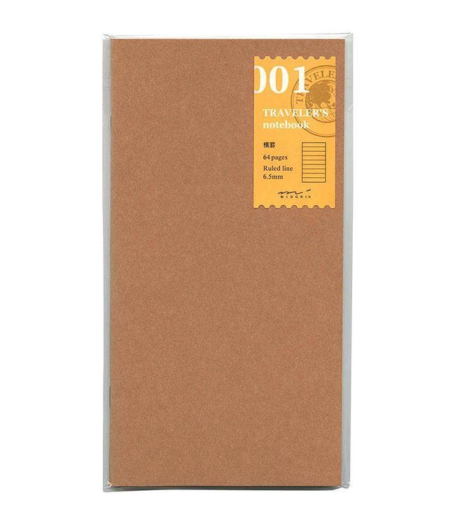Traveler's notebook - 001. lined notebook refill 64 pages