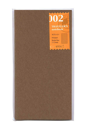 Midori Traveler's notebook - 002. grid notebook refill 64 pages