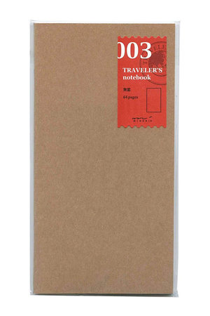 Midori Traveler's notebook - 003. blanco navulling 64 blz