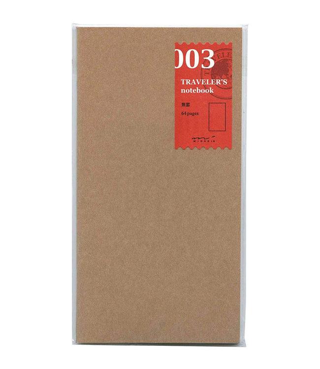 Midori Traveler's notebook - 003. blank notebook refill
