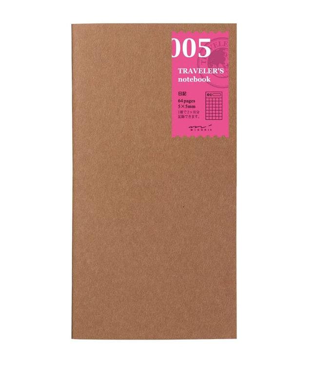 Midori Traveler's notebook - 005. agenda 2 maanden