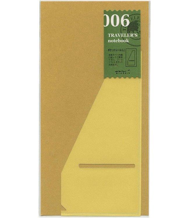 Traveler's notebook - 006. pocket sticker large