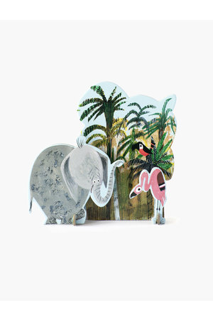 Studio Roof Pop out card - jungle olifant