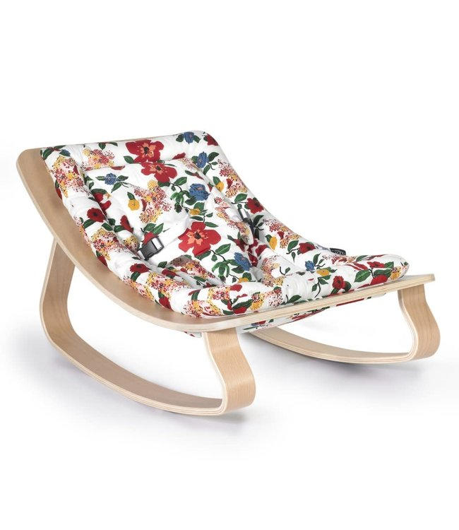 Couleur Locale Baby Rocker Levo In Beech Hibiscus Couleur Locale