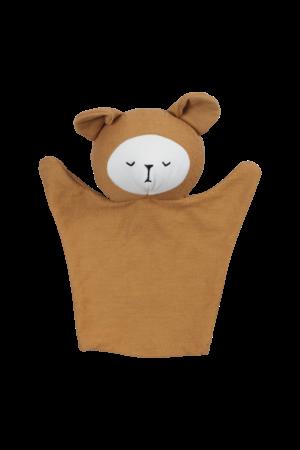 Fabelab Hand puppet bear - ochre