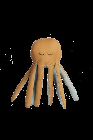 Fabelab Octopus zachte rammelaar - mosterd
