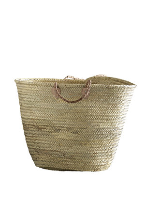 Tine K Home Shopping basket with leather handles XL