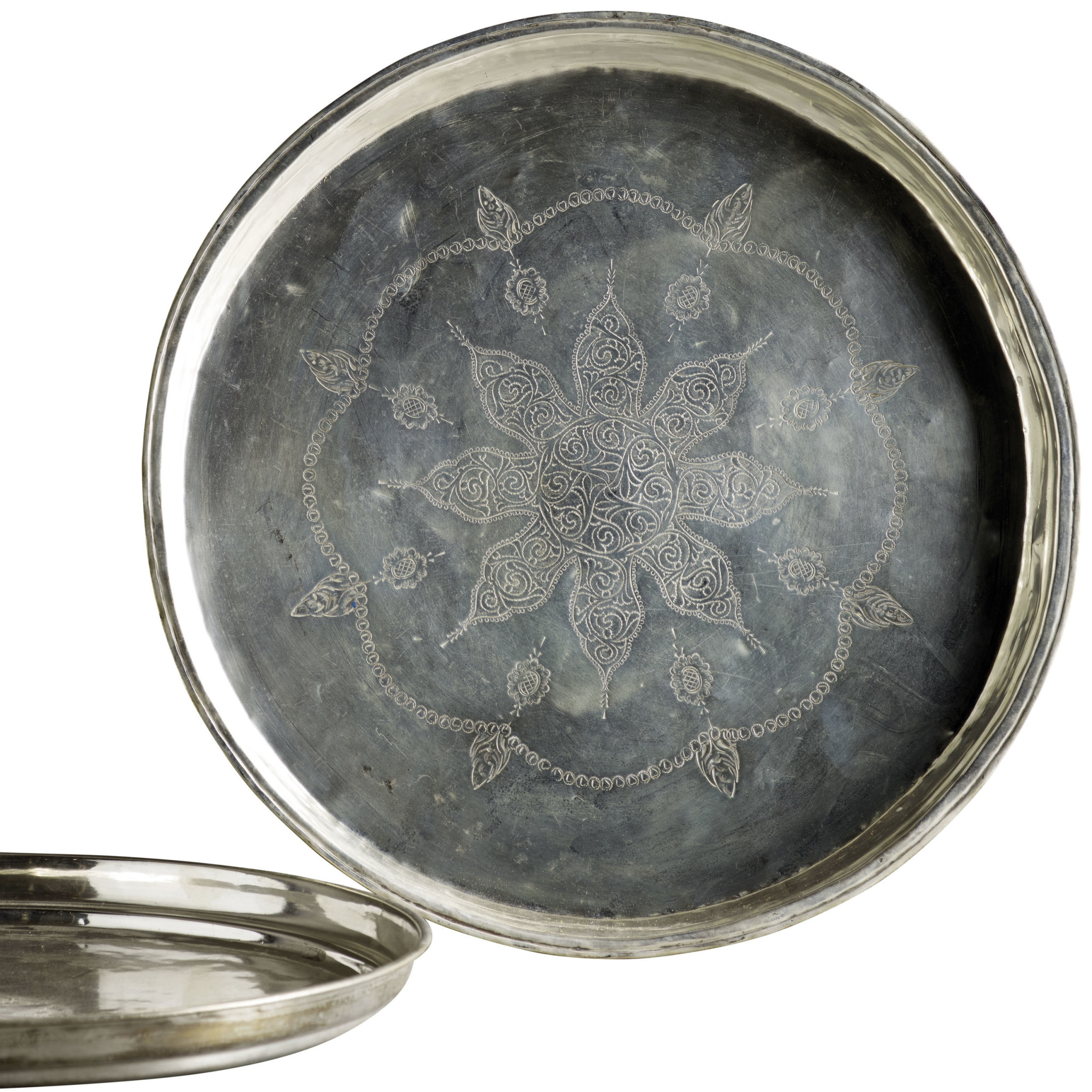Antique Silverplated Tray O 40 50 Cm Couleur Locale