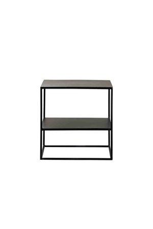 Tine K Home Metal table with shelf - phantom