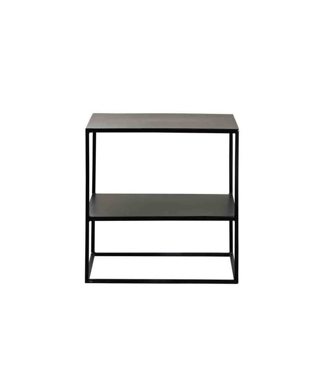 Tine K Home Metal table with shelf - phantom