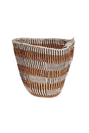 Couleur Locale Sisal mandje Kenia - aardetinten #27
